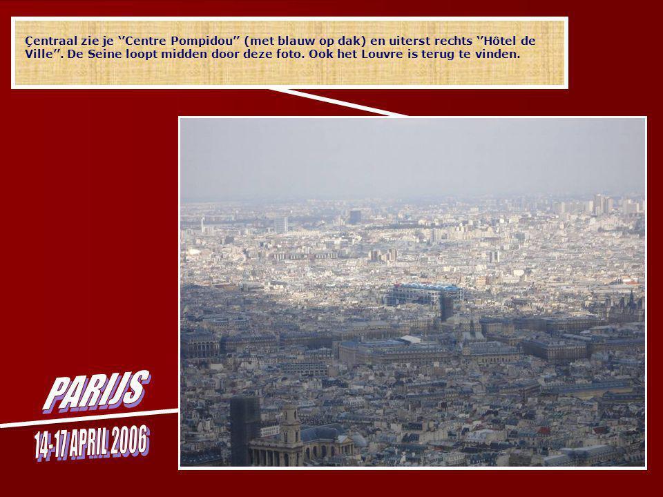 En kijk eens hier … centraal ''Hôtel des Invalides'' (met gouden koepel) waar Napoleon begraven ligt.