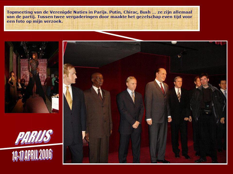 Topmeeting van de Verenigde Naties in Parijs.Putin, Chirac, Bush … ze zijn allemaal van de partij.
