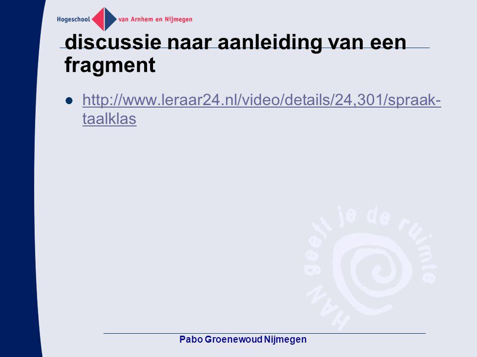 discussie naar aanleiding van een fragment http://www.leraar24.nl/video/details/24,301/spraak- taalklas http://www.leraar24.nl/video/details/24,301/sp