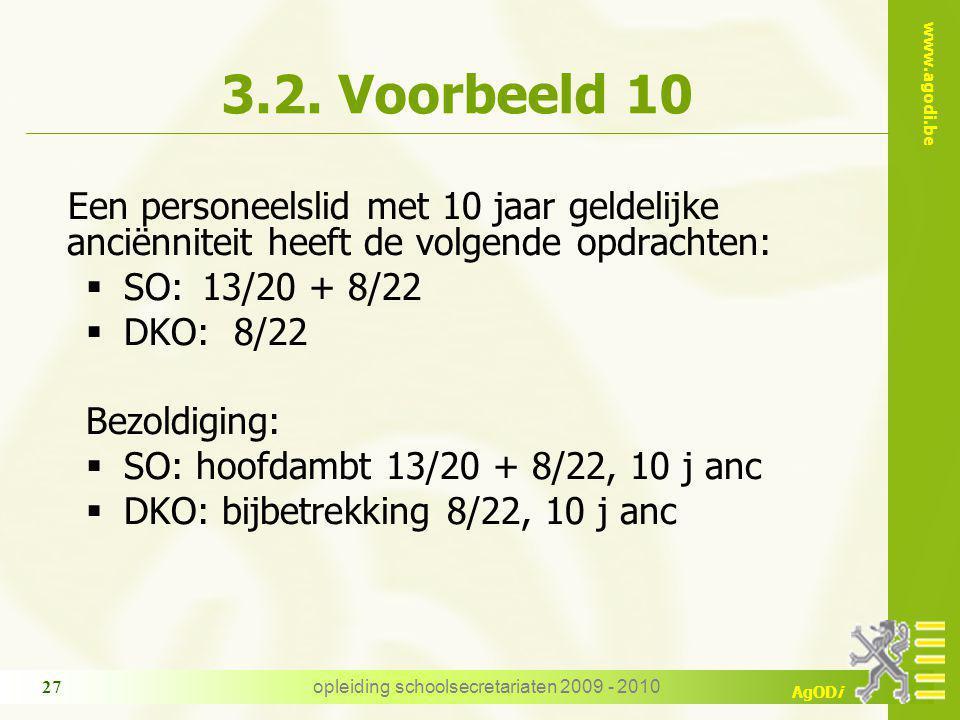 www.agodi.be AgODi opleiding schoolsecretariaten 2009 - 2010 27 3.2.