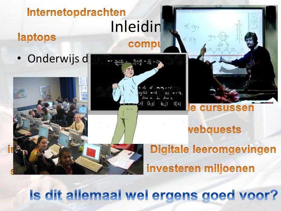 Inleiding Onderwijs digitaliseert