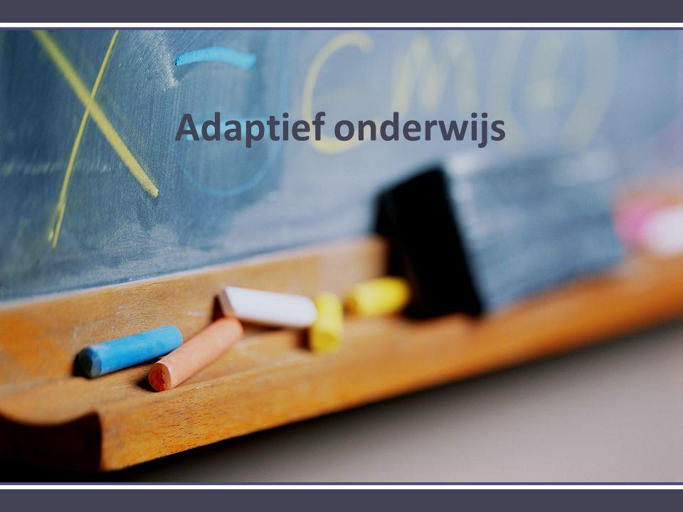Adaptief onderwijs