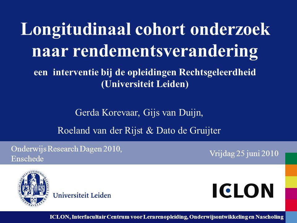 Leiden University. The university to discover. ICLON, Interfacultair Centrum voor Lerarenopleiding, Onderwijsontwikkeling en Nascholing Longitudinaal