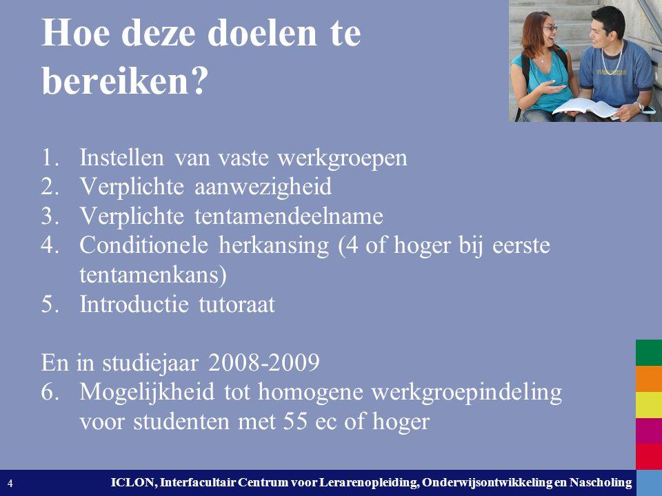 Leiden University. The university to discover. ICLON, Interfacultair Centrum voor Lerarenopleiding, Onderwijsontwikkeling en Nascholing 4 Hoe deze doe