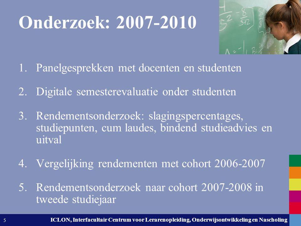 Leiden University. The university to discover. ICLON, Interfacultair Centrum voor Lerarenopleiding, Onderwijsontwikkeling en Nascholing 5 Onderzoek: 2