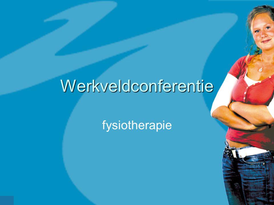 Werkveldconferentie fysiotherapie