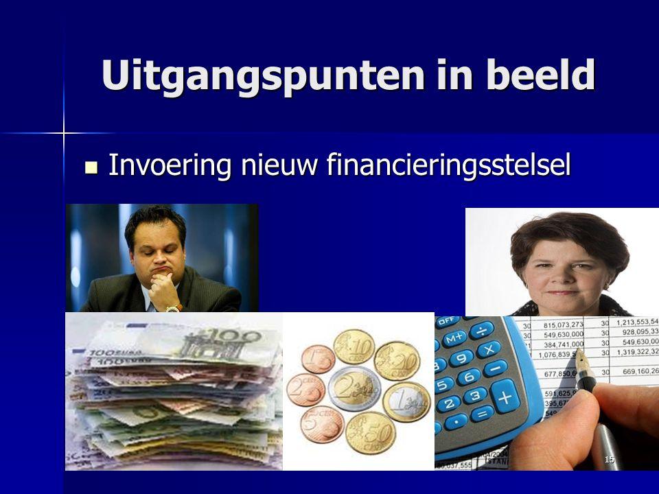 Uitgangspunten in beeld Invoering nieuw financieringsstelsel Invoering nieuw financieringsstelsel 15