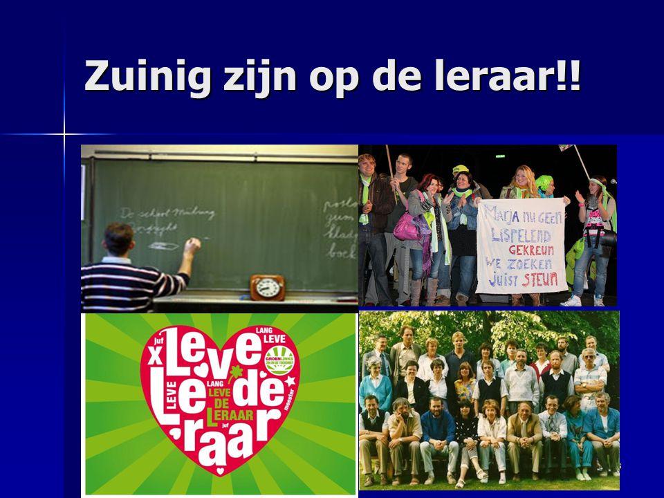 Zuinig zijn op de leraar!! 8