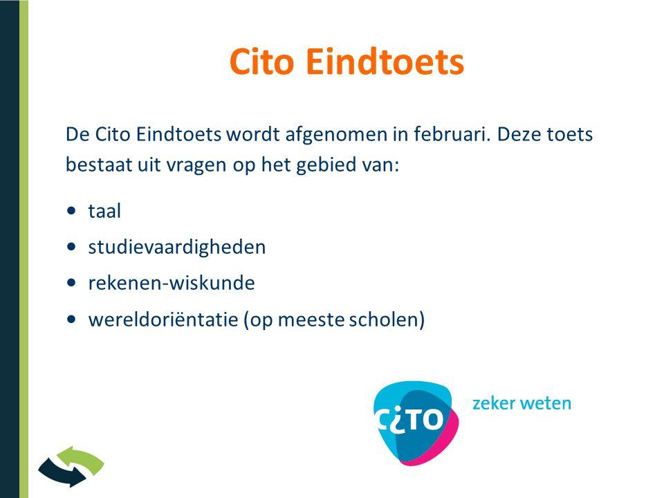 De Cito Eindtoets wordt afgenomen in februari.