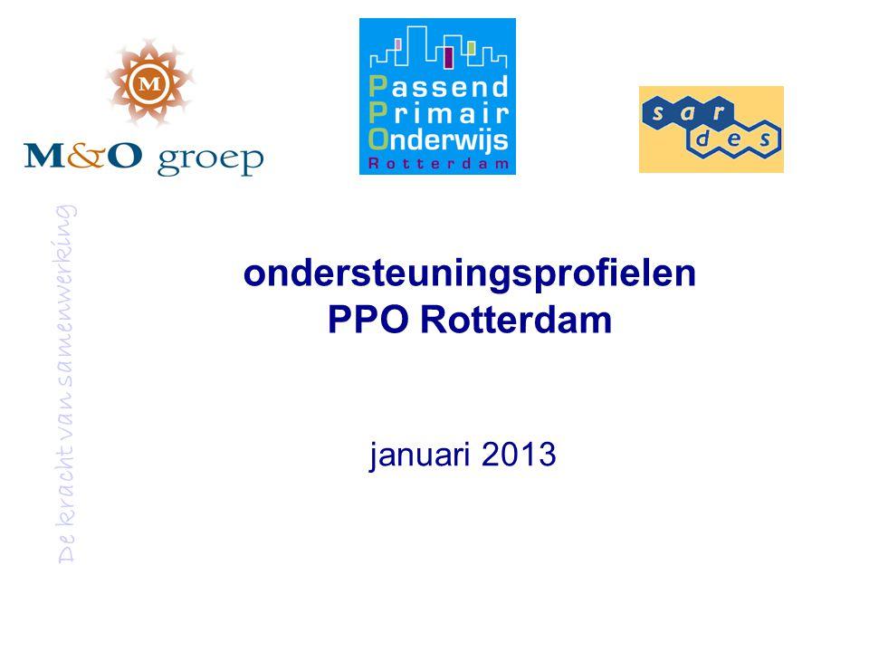 De kracht van samenwerking ondersteuningsprofielen PPO Rotterdam januari 2013