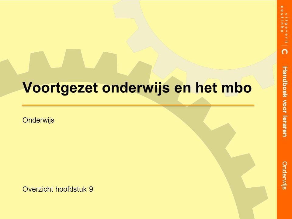 Overzicht presentatie Handboek voor leraren Onderwijs onderwijssysteem in Nederland inrichting van het vmbo inrichting van havo en vwo inrichting van het mbo doelstellingen van het onderwijs verschillende onderwijsconcepten schoolculturen samenwerkingsgraden zorgstructuur