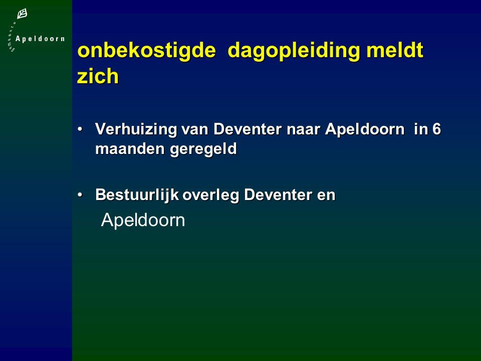onbekostigde dagopleiding meldt zich Verhuizing van Deventer naar Apeldoorn in 6 maanden geregeldVerhuizing van Deventer naar Apeldoorn in 6 maanden geregeld Bestuurlijk overleg Deventer enBestuurlijk overleg Deventer en Apeldoorn