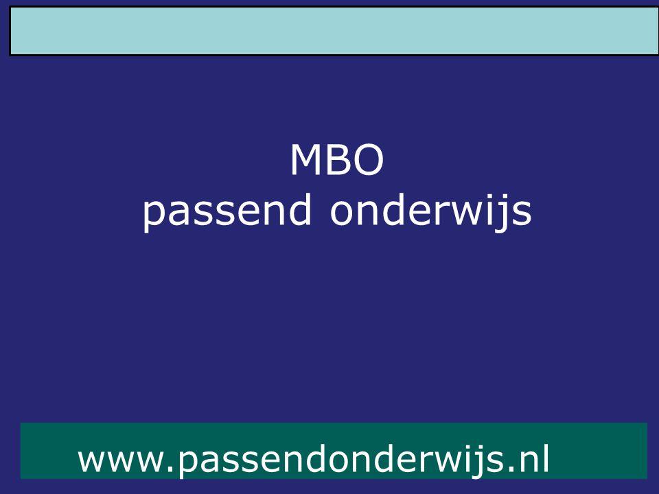www.passendonderwijs.nl MBO passend onderwijs