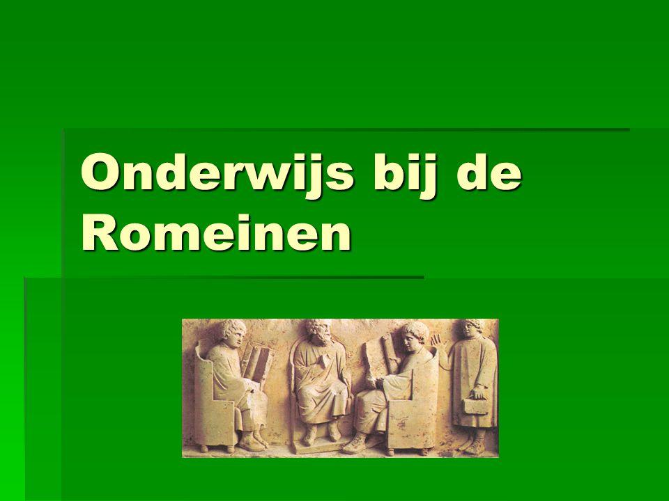 Onderwijs bij de Romeinen