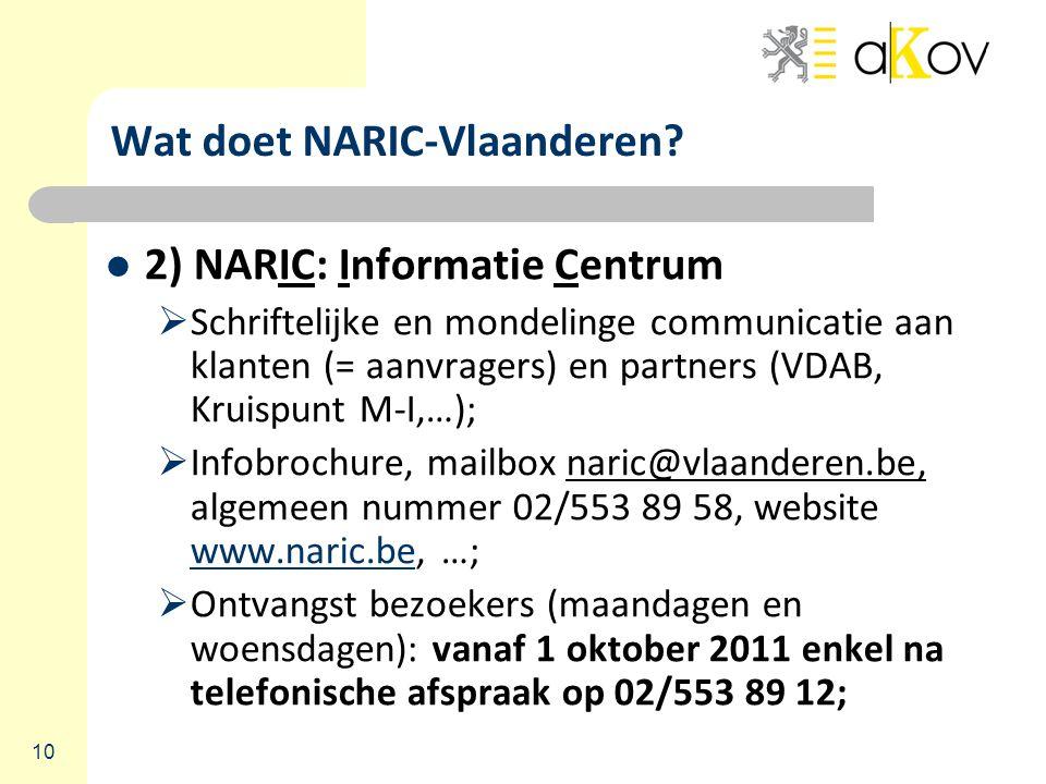 10 Wat doet NARIC-Vlaanderen.