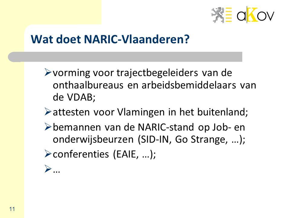 11 Wat doet NARIC-Vlaanderen.