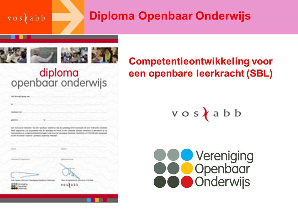 Diploma Openbaar Onderwijs Competentieontwikkeling voor een openbare leerkracht (SBL)