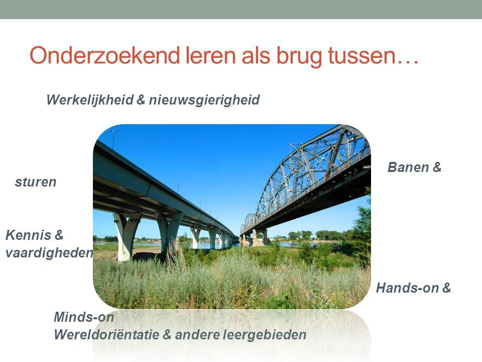 Onderzoekend leren als brug tussen… Werkelijkheid & nieuwsgierigheid Banen & sturen Kennis & vaardigheden Hands-on & Minds-on Wereldoriëntatie & ander