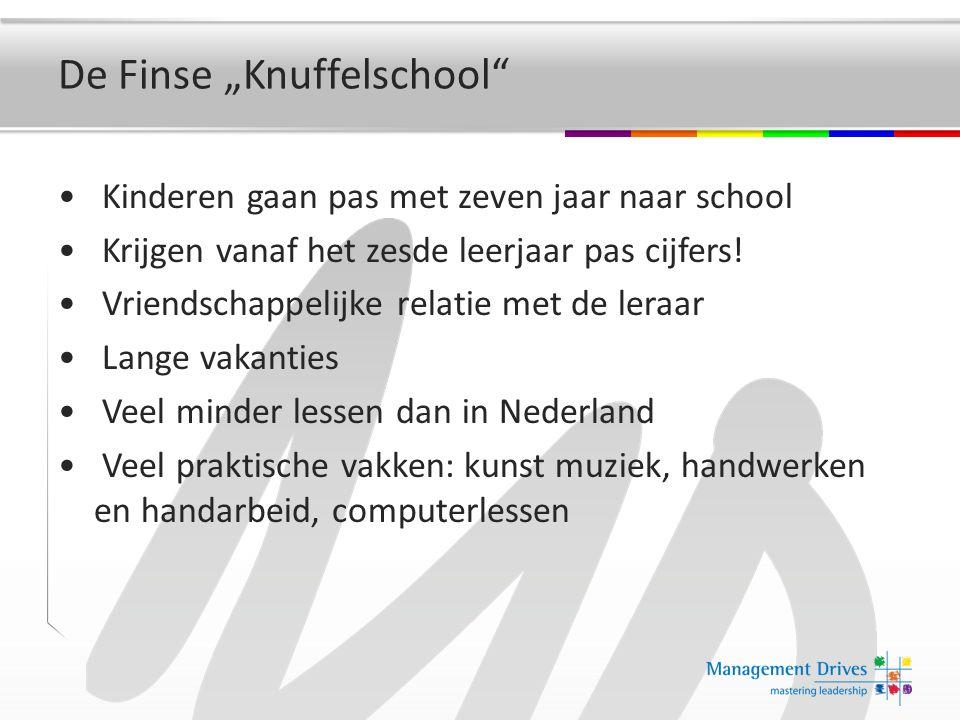 """De Finse """"Knuffelschool Kinderen gaan pas met zeven jaar naar school Krijgen vanaf het zesde leerjaar pas cijfers."""