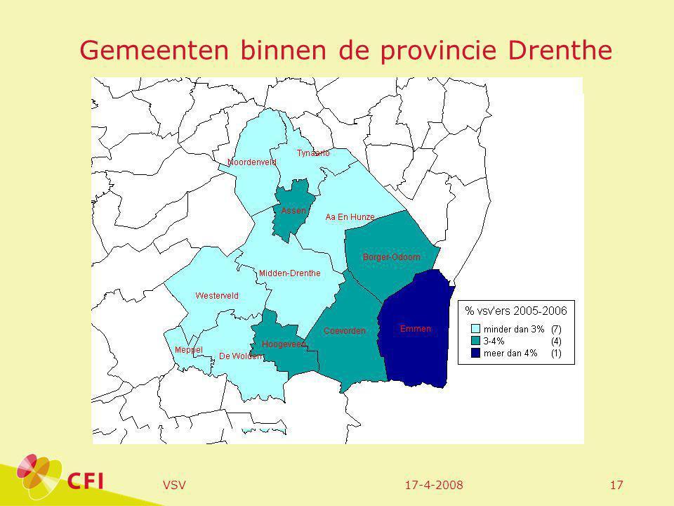 17-4-2008VSV17 Gemeenten binnen de provincie Drenthe