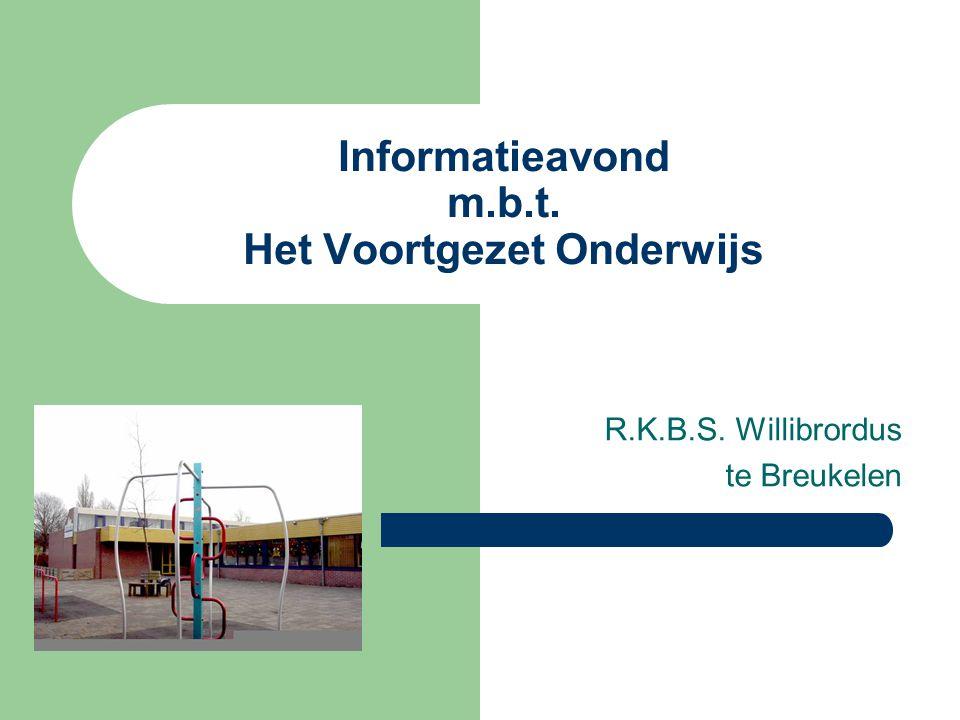 Informatieavond m.b.t. Het Voortgezet Onderwijs R.K.B.S. Willibrordus te Breukelen