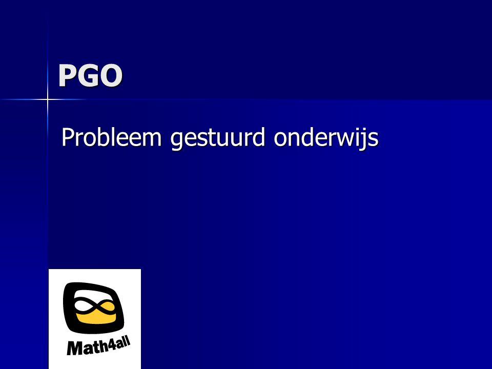 PGO Probleem gestuurd onderwijs