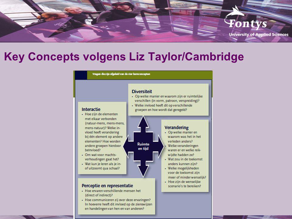 Key Concepts volgens Liz Taylor/Cambridge