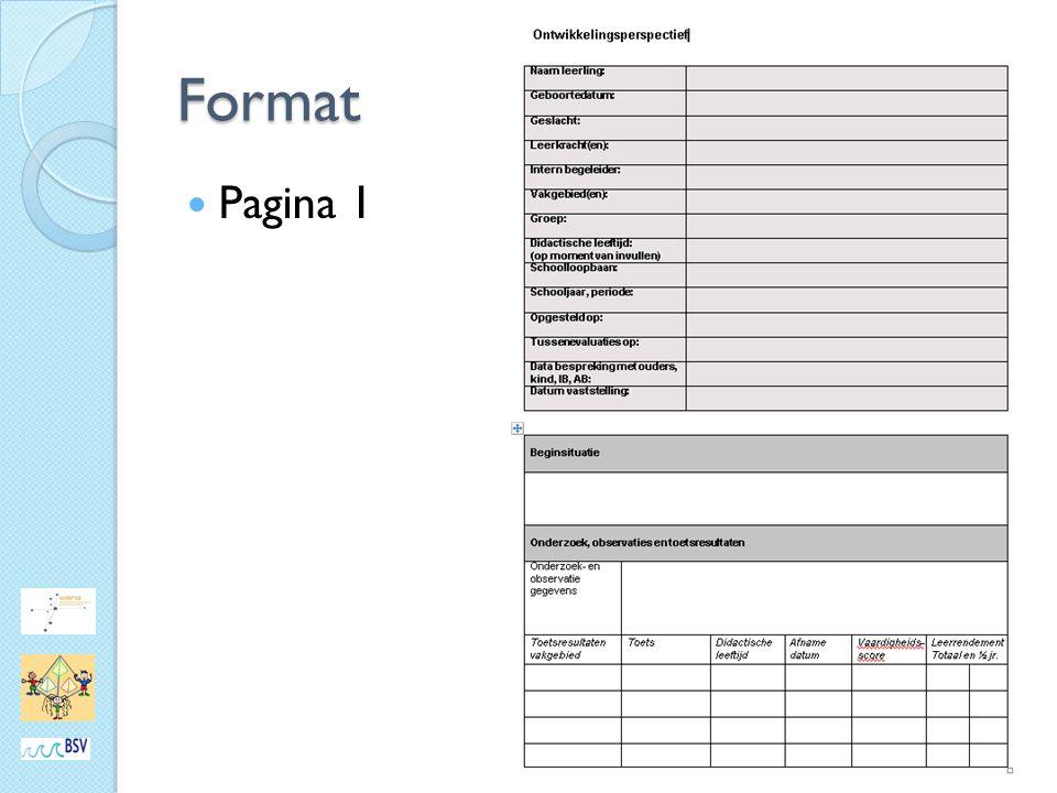 Format Pagina 1