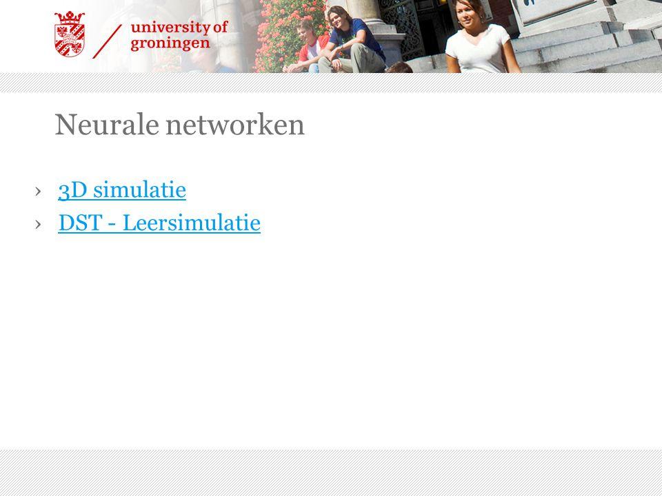Neurale networken ›3D simulatie3D simulatie ›DST - LeersimulatieDST - Leersimulatie