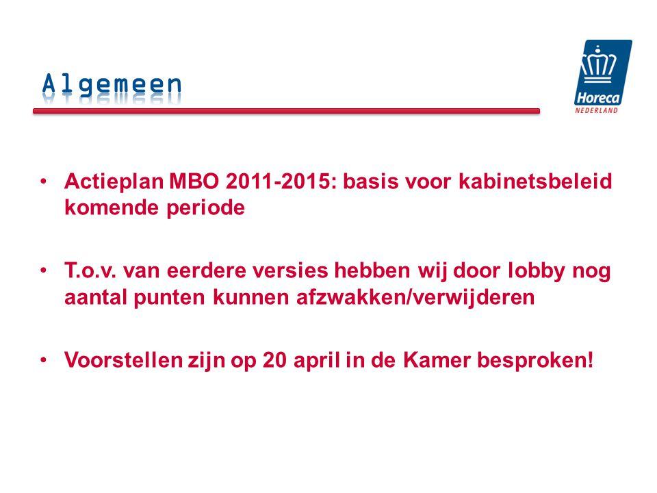 Actieplan MBO 2011-2015: basis voor kabinetsbeleid komende periode T.o.v.