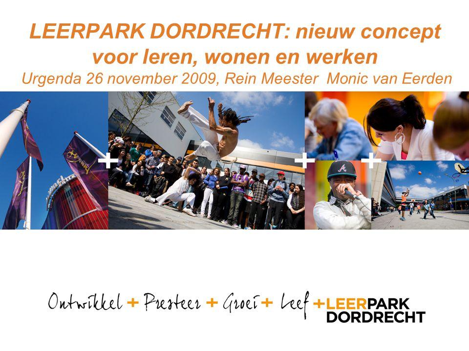 www.leerpark.nl Een stad in de stad Luchtfoto Vermaatschappelijking van het onderwijs Ontscholing Regionale economie Voorbeeld beroepsonderwijs