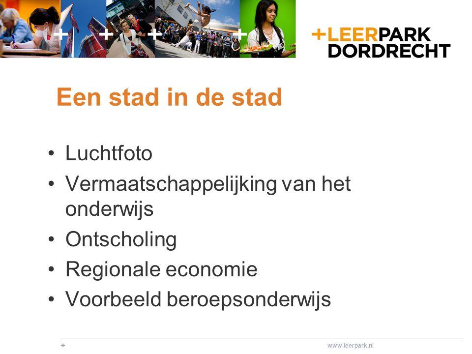 Duurzaamheid Strategisch beleidsplan scholen Ambities gemeente Dordrecht en Drechtsteden Gezamenlijke accommodaties; sport+, samenwerkingsgebouw horeca en techniek WKO; zichtbare energie Duurzaamheidsfabriek - Centre of excellence