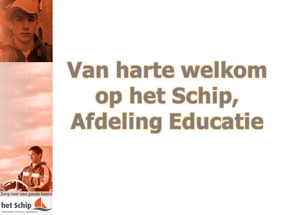 1Opening 2Welkom op het Schip: wie zijn wij in vogelvlucht 3Laatste stand van zaken rondom Passend Onderwijs 4Inleiding in de projecten: Gerrit Meere 5Herstart: Hetty Bult 6Op de Rails: Gerrit Meere 7Loods (rebound): Gerrit Meere 8Vragen, 9Afsluiting, documentatie en informeel samenzijn