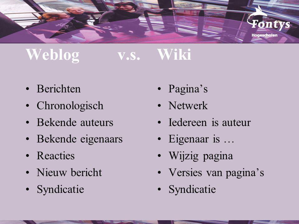 Weblog v.s.