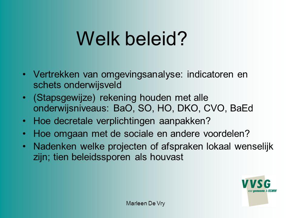 Marleen De Vry Welk beleid.