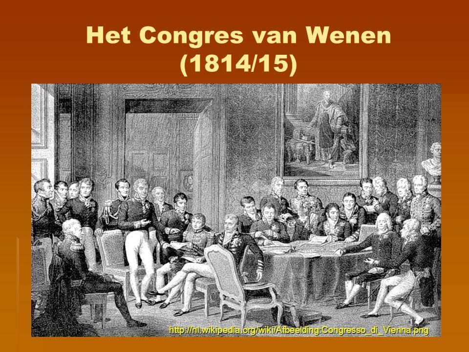 Het Congres van Wenen (1814/15) http://nl.wikipedia.org/wiki/Afbeelding:Congresso_di_Vienna.png