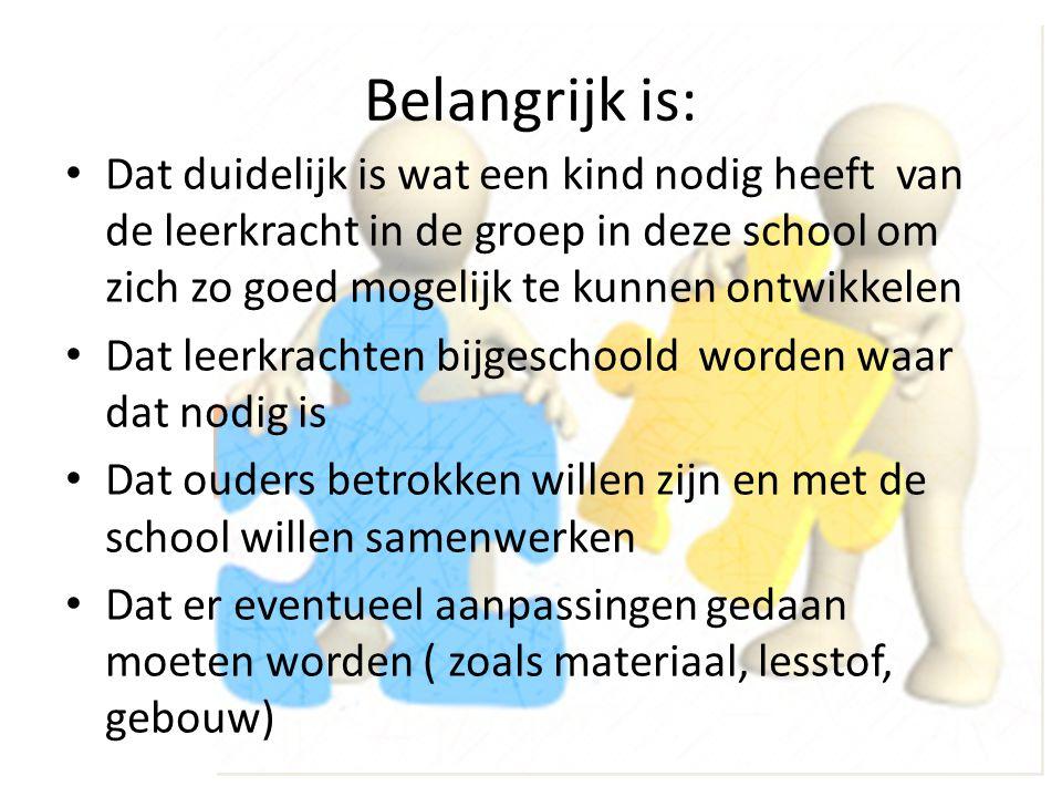 Wat betekent Passend onderwijs tot nu toe voor de scholen in Stedenwijk.