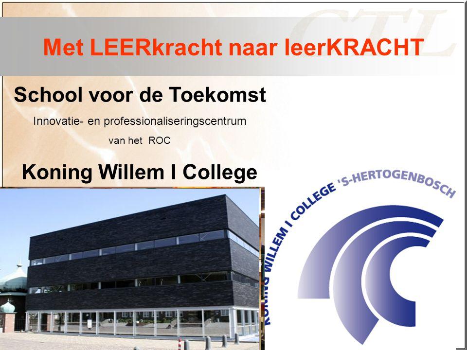 School voor de Toekomst Innovatie- en professionaliseringscentrum van het ROC Koning Willem I College Met LEERkracht naar leerKRACHT