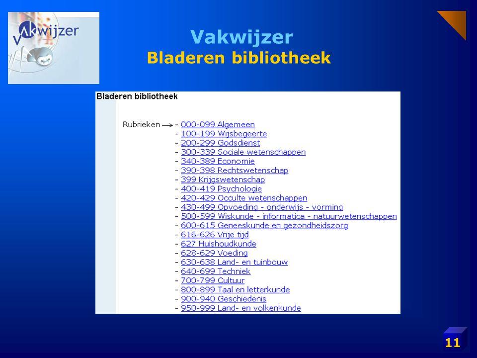 11 Vakwijzer Bladeren bibliotheek