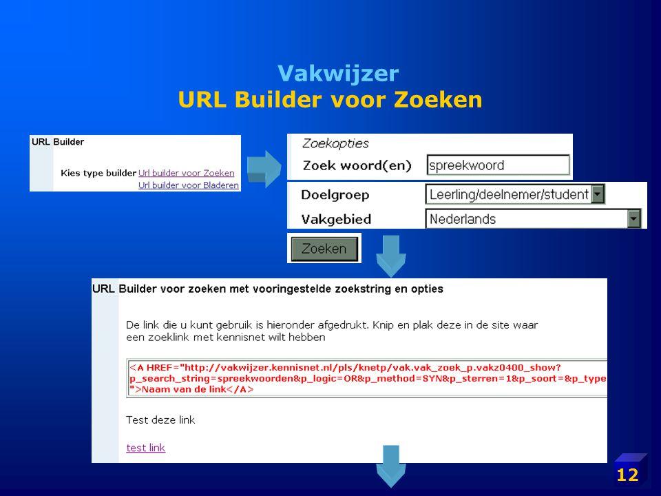 12 Vakwijzer URL Builder voor Zoeken