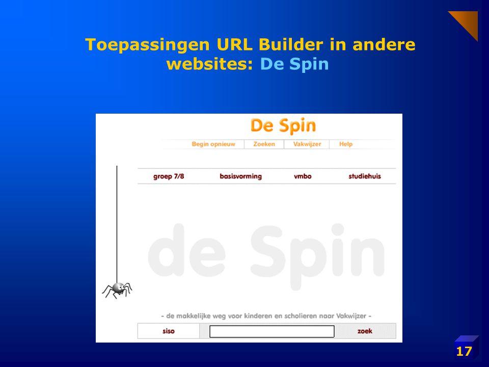 17 Toepassingen URL Builder in andere websites: De Spin