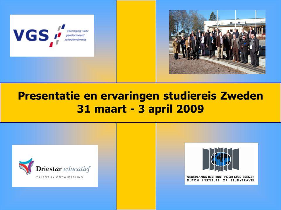 Presentatie en ervaringen studiereis Zweden 31 maart - 3 april 2009