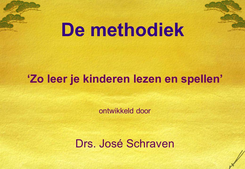 De methodiek 'Zo leer je kinderen lezen en spellen' ontwikkeld door Drs. José Schraven