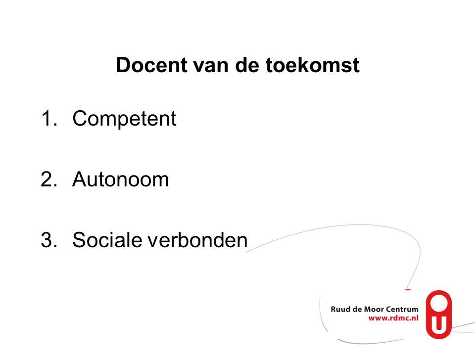 Omgevings- kenmerk sociale verbonden- heid autonomie competence intrinsieke motivatie nieuws- gierigheid, samenwerking, welzijn inzet, diepgaand leren