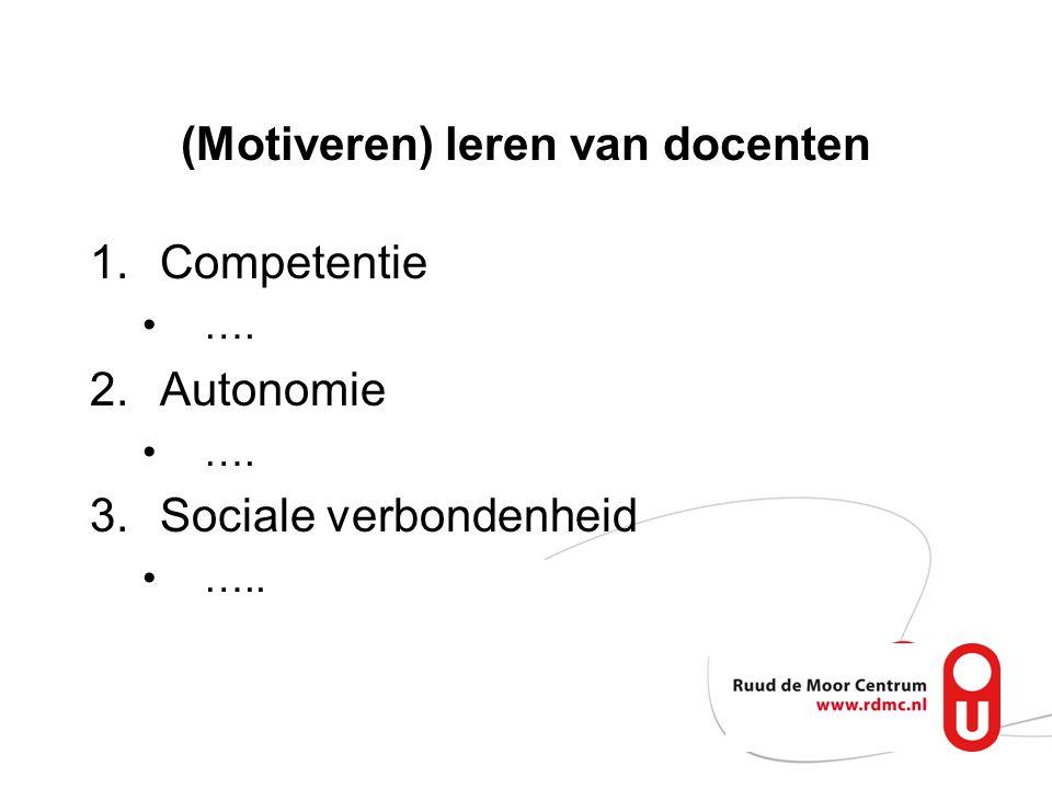 1.Competent 2.Autonoom 3.Sociale verbonden Docent van de toekomst