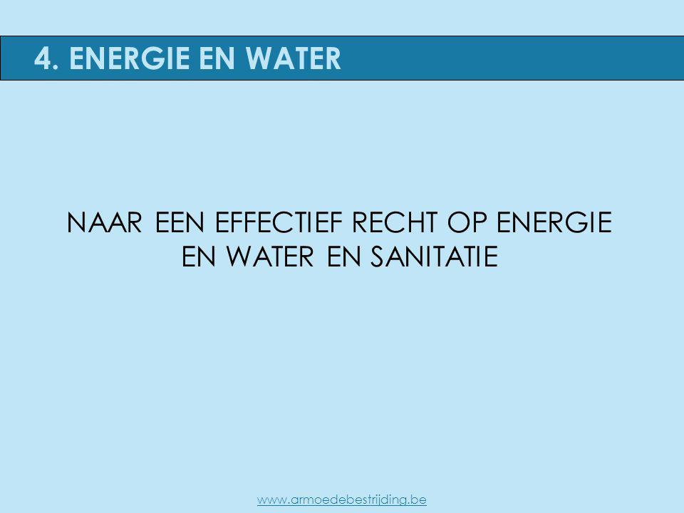 NAAR EEN EFFECTIEF RECHT OP ENERGIE EN WATER EN SANITATIE 4. ENERGIE EN WATER www.armoedebestrijding.be