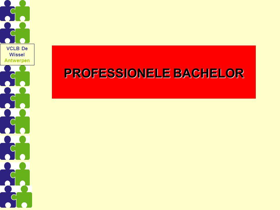 PROFESSIONELE BACHELOR VCLB De Wissel Antwerpen