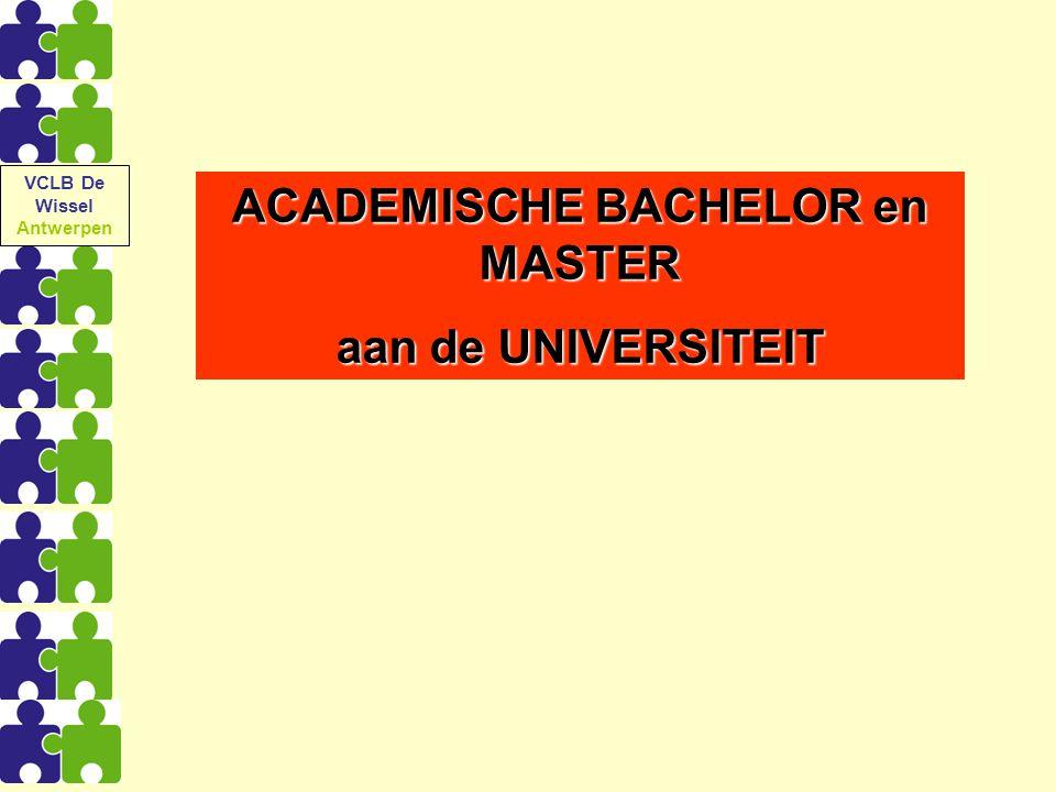 ACADEMISCHE BACHELOR en MASTER aan de UNIVERSITEIT VCLB De Wissel Antwerpen