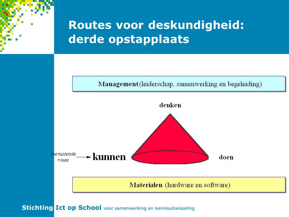 Routes voor deskundigheid: derde opstapplaats