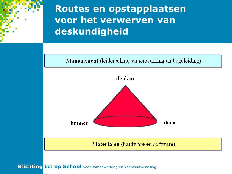 Routes en opstapplaatsen voor het verwerven van deskundigheid